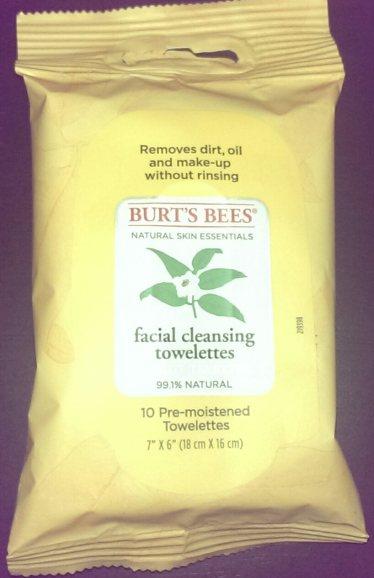 Burt's Bees towelettes