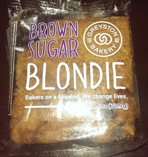 Greyston brown sugar blondie