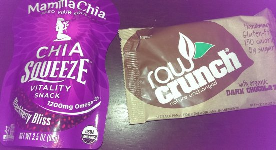 Mamma Chia squeeze and Raw Crunch bar