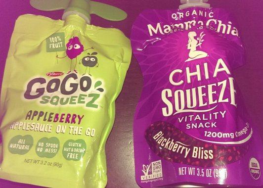 Go Go Squeez and Mamma Chia squeeze