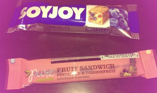 Soy Joy bar and Pure fruit sandwich