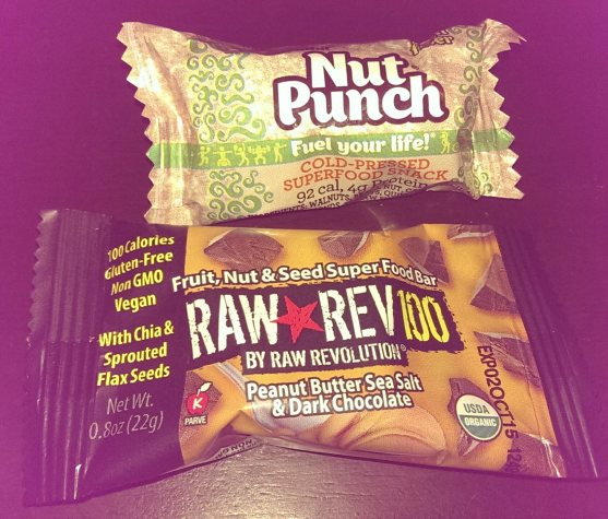 Terra Nut nut punch and Raw Rev bar