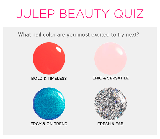 Julep beauty quiz