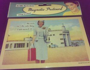 postcard magnet