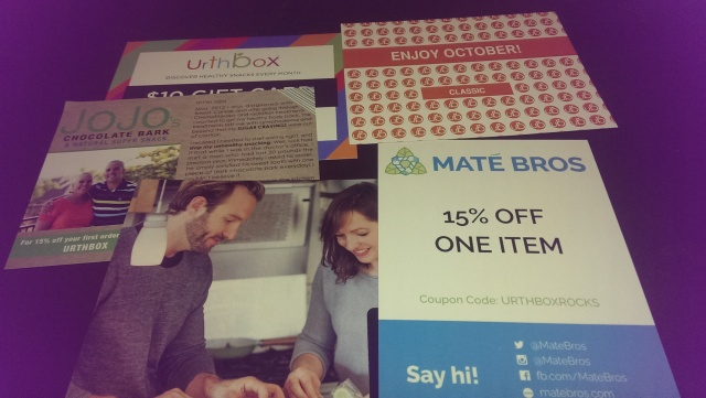 coupons and information card