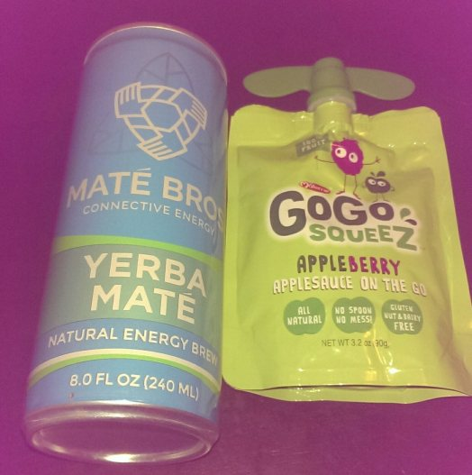 Mate Bros drink and GoGo Squeez pouch